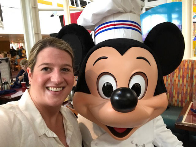 Kara with Chef Mickey at Disney
