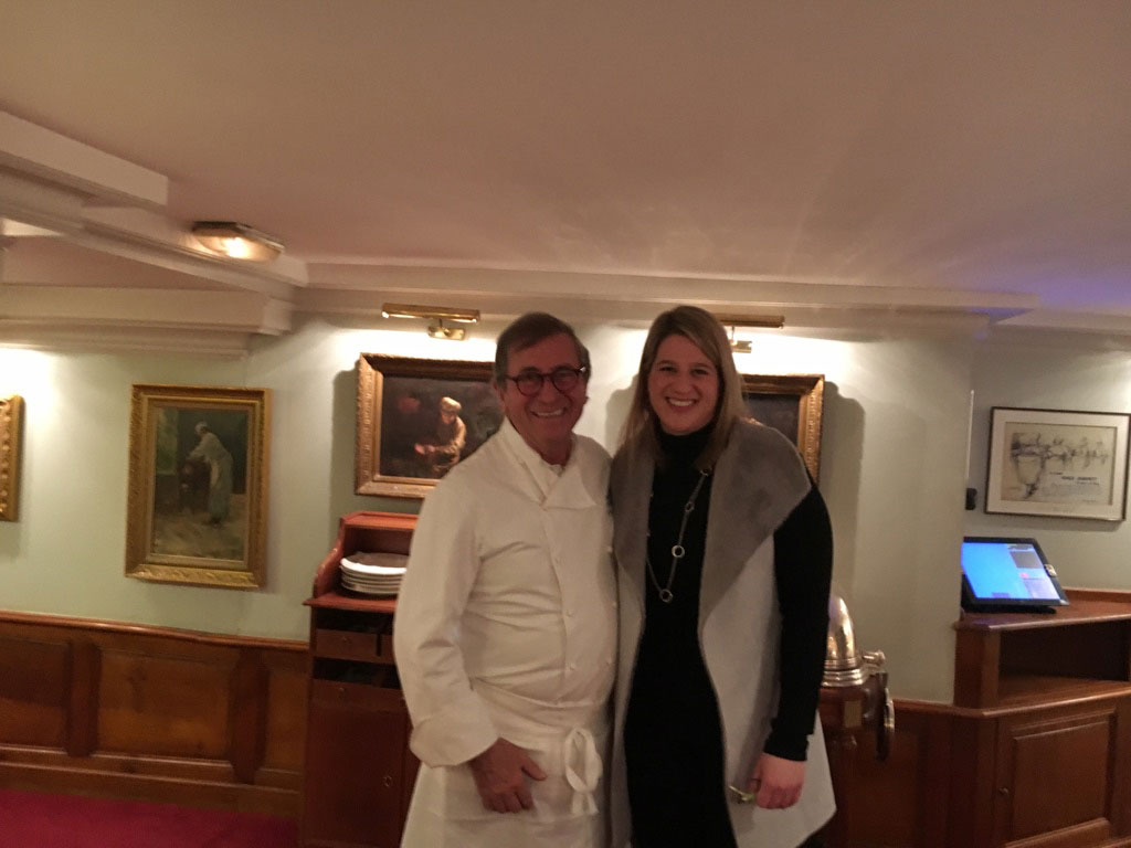 Kara At Leon de Lyon with Chef Jean Paul Lacombe